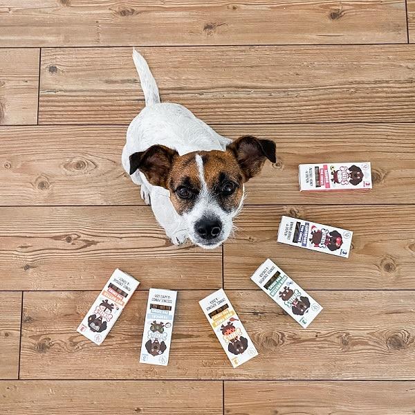 poes de hond met alle smaken denzels kauwsticks