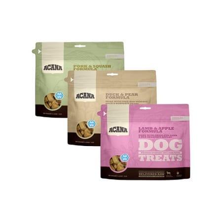 Gevriesdroogde hondensnoepjes Acana voor in de snuffelmat