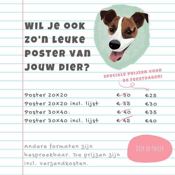 decemberkorting dier op papier prijslijst