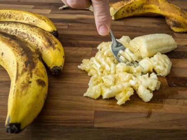 Kong ijsje geprakte banaan